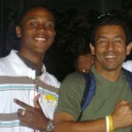 Kareem with his guide on a recent trip to Costa Rica
